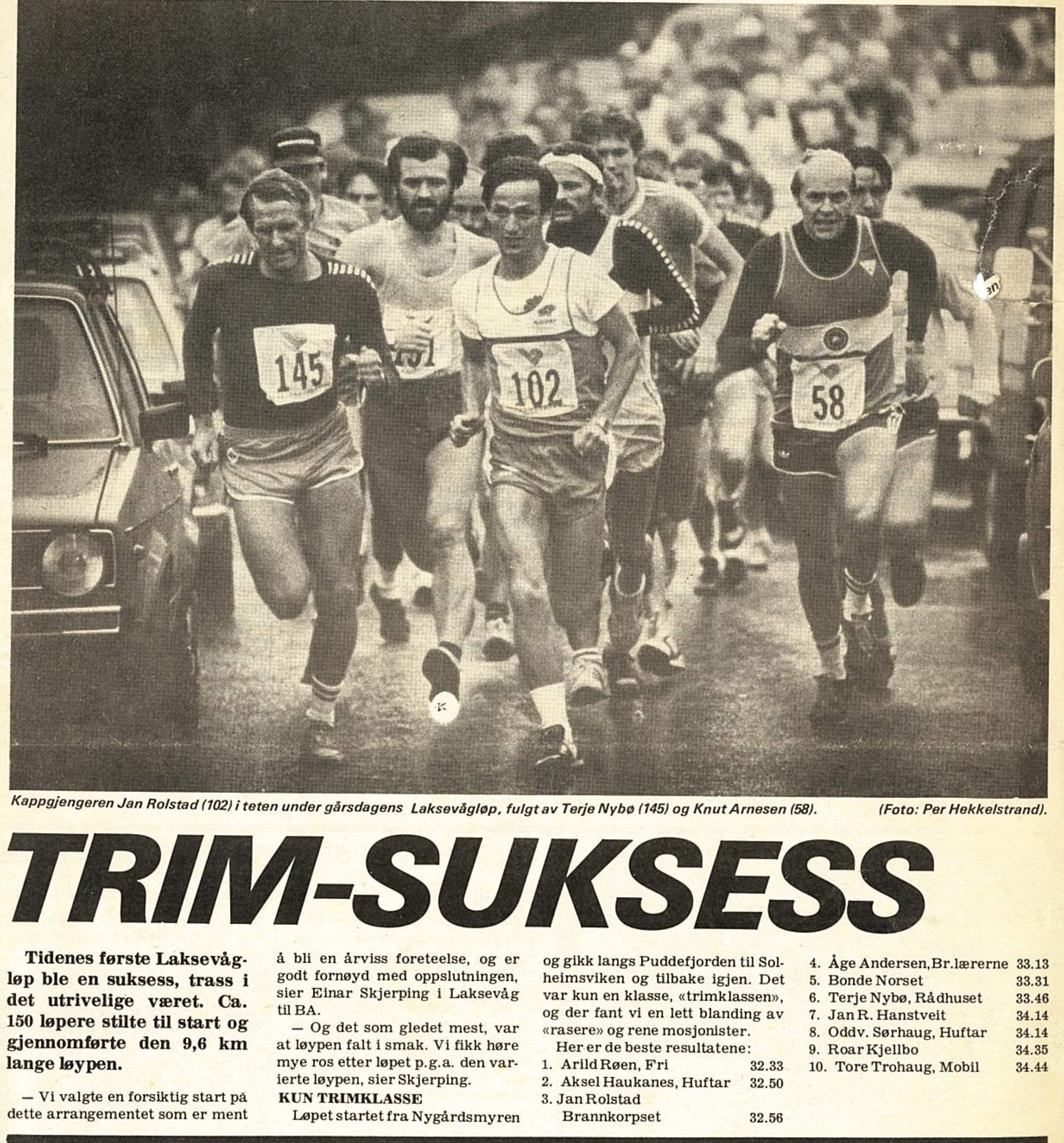 Det første Laksevågløpet i 1983